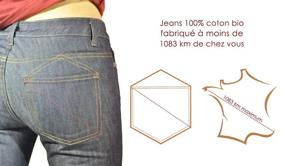 jeans 1083 coton bio fabriqué en France