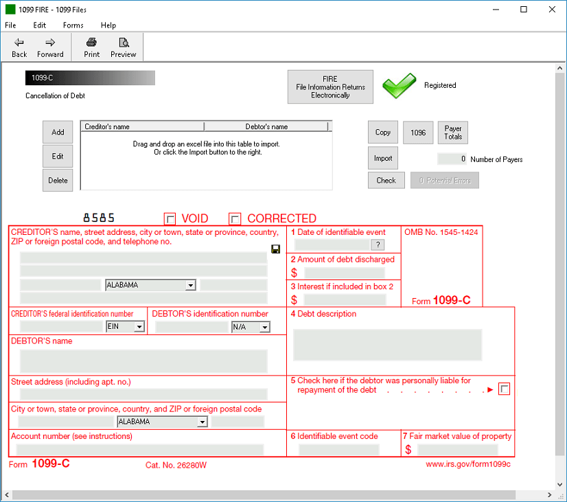 Irs Form C Software