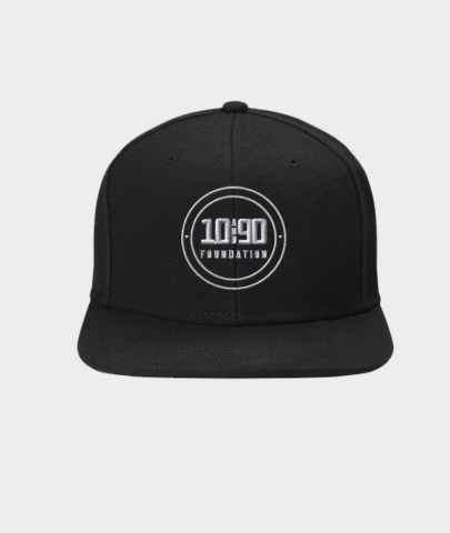 The 10 and 90 Foundation - Snapback Hat - Black