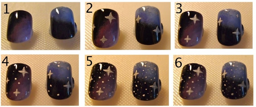 Creating Galaxy Nails Using Acrylic Paint