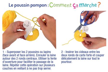Lapin Et Poussin En Pompons Pques 10 Doigts