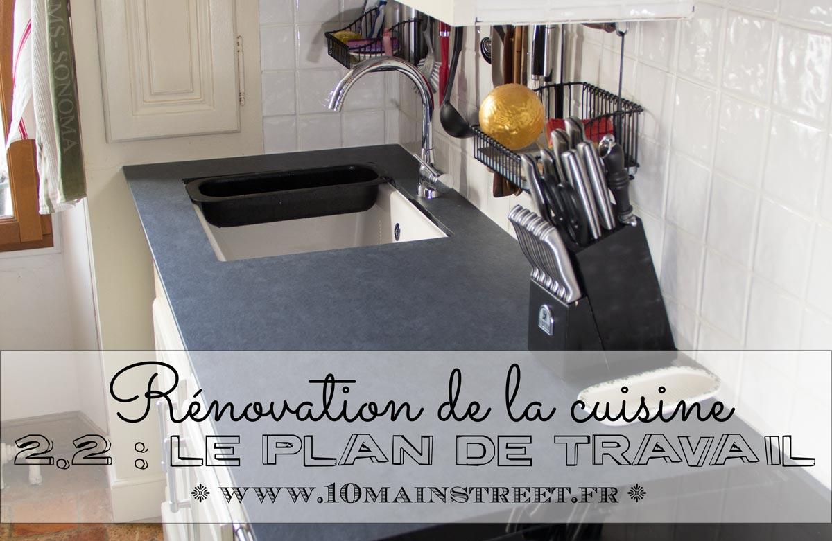 Rénovation De La Cuisine Installation Du Plan De Travail