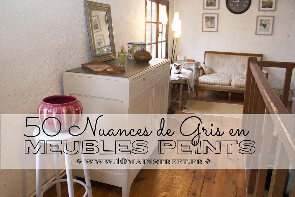 50 nuances de gris en meubles peints