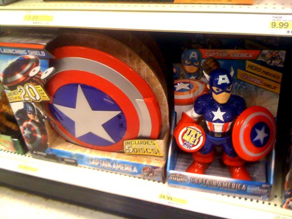 Captain America Large Kids Figure and weird role play Cap Shield