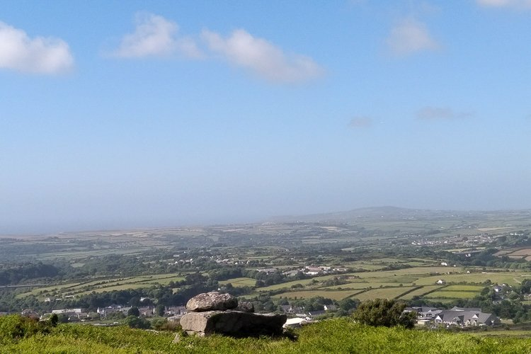 View From Carn Brea Monument to St Agnes