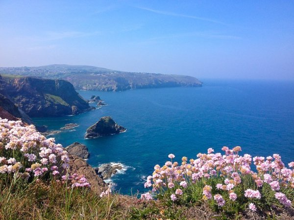 View from the cliffs above St Agnes, Cornwall UK. Copyright Stephanie Boon, 2017. All Rights Reserved