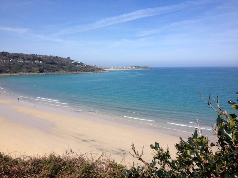 Carbis Bay and St Ives, South West Coast PAth, Cornwall, UK. Copyright Stephanie Boon, 2017. All Rights Reserved.