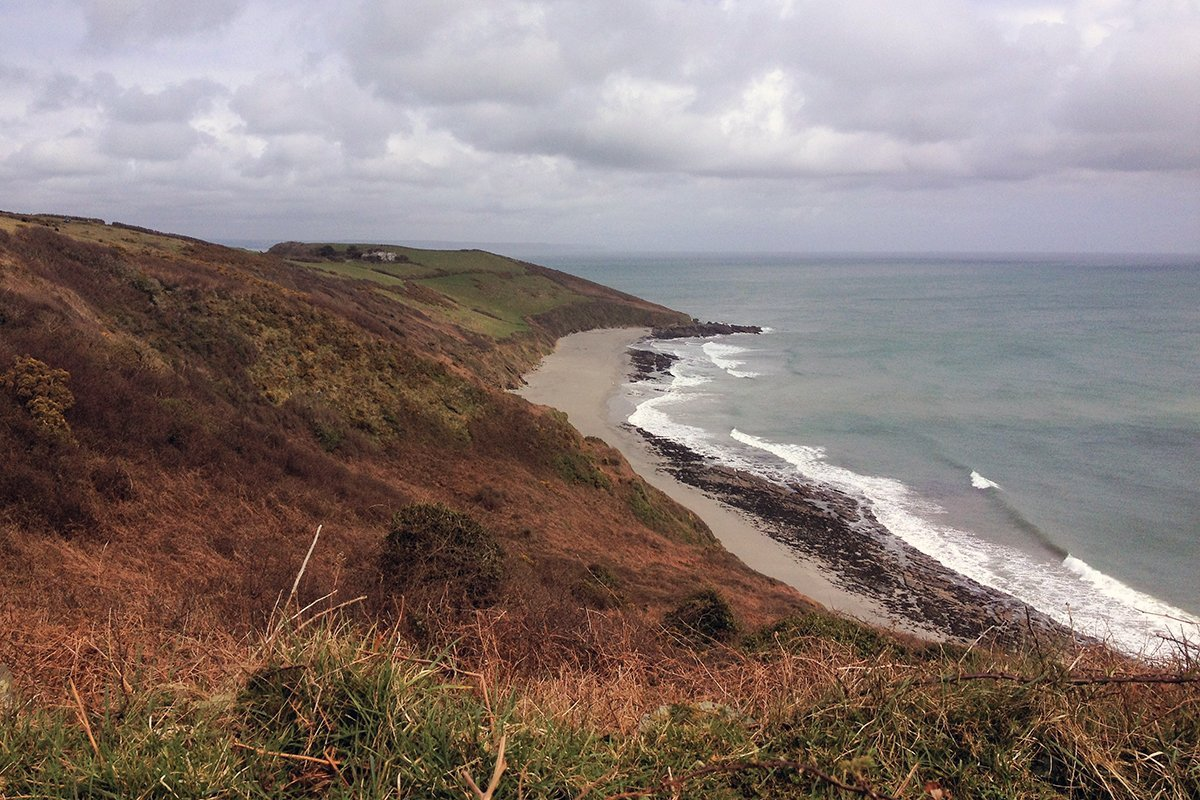 Vault Beach. South West Coast Path, Cornwall UK. Portscatho to Veryan. Copyright Stephanie Boon, 2018. All rights Reserved.