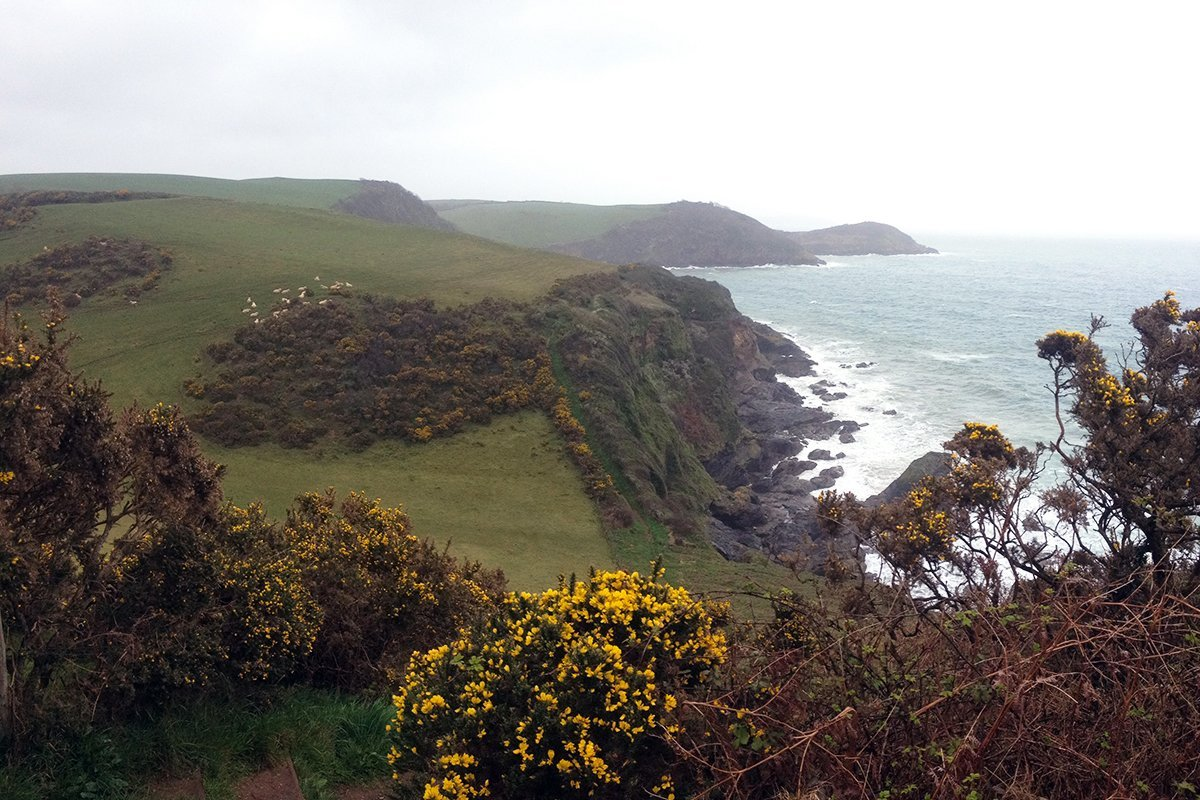 South West Coast Path, Cornwall UK. Pentewan. Copyright Stephanie Boon, 2018. All rights Reserved.