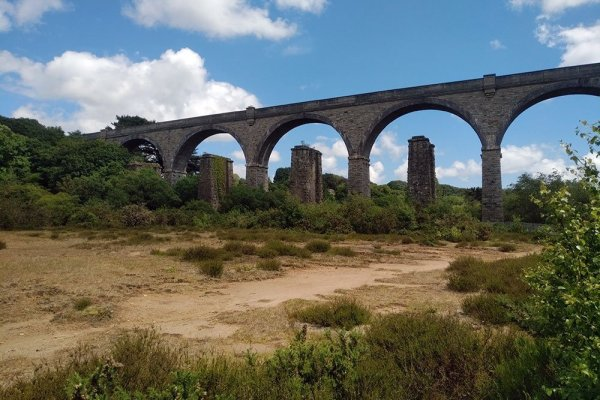 Carnon Valley Viaduct on the branch line between Truro and Falmouth, 2019