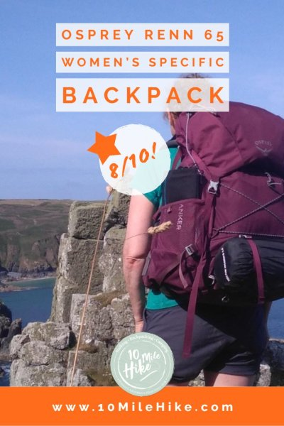 The Osprey Renn 65 Women's Specific lightweight rucksack is perfect for backpacking - I gave it 8/10 after 100 miles on the trail, but could it be the one for you? Find out in this review!