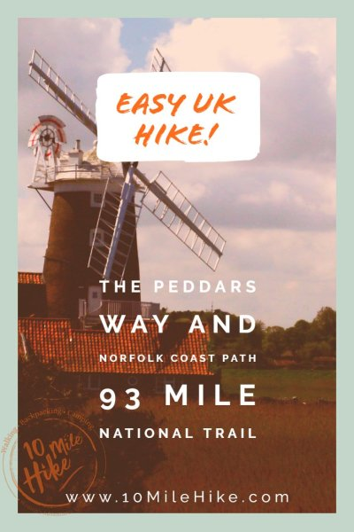 The Peddars Way And Norfolk Coast Path is a 93 Mile National Trail tucked away in the east of England. It's an easy, level trail ideal if you're new to hiking. Not only is it easy terrain, it's full of wildlife and fascinating history to explore!