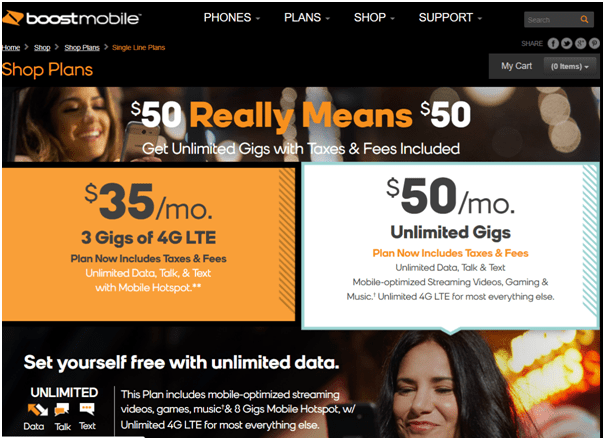 Boost Mobile- Prepaid plan 2018