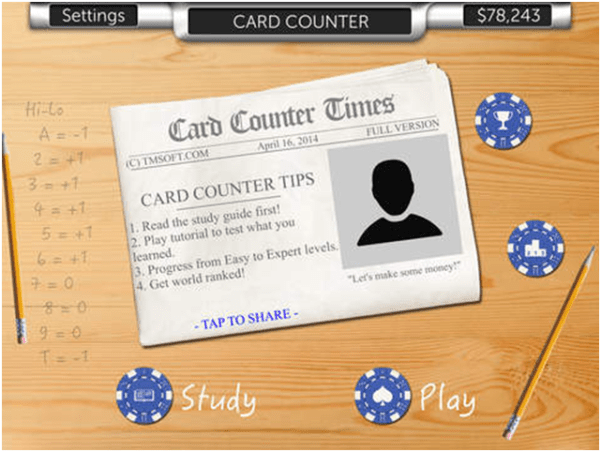 Card Counting Cell phone apps