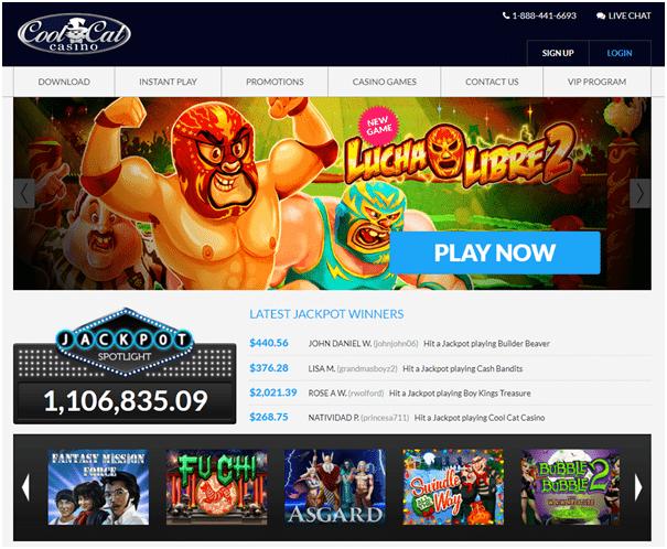 Cool Cat Casino - No Deposit online casino