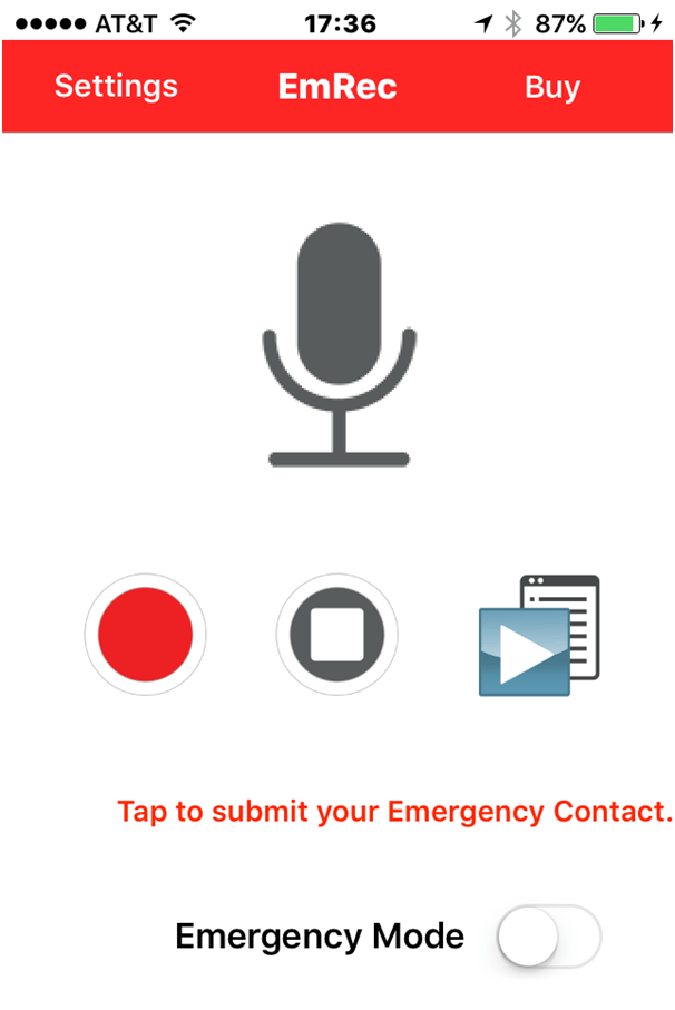 Use voice recorder app in case of emergency to communicate