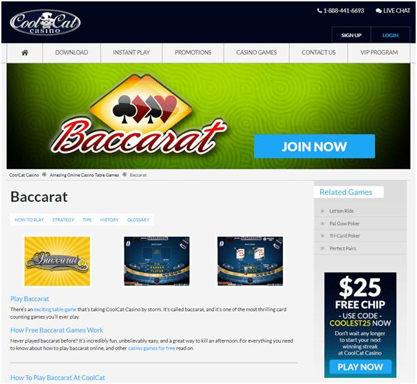 Cool Cat Casino- Live Baccarat