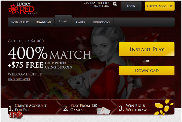 Lucky red casino Instant withdrawals