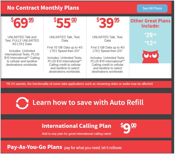 Page Plus prepaid plans