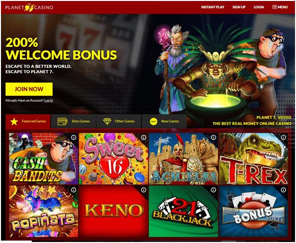 Planet 7 - No Deposit Online Casino