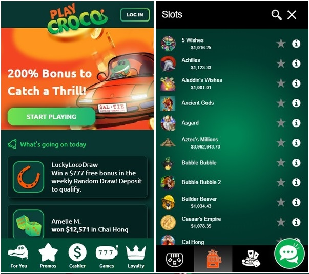 Play Croco mobile app