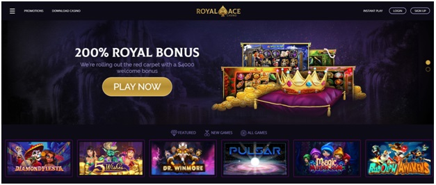 Royal Ace casino- DIscover card payment
