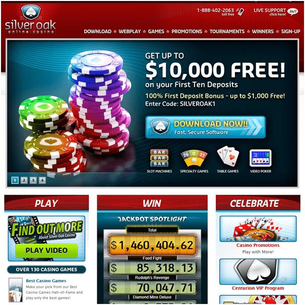 Silver Oak Casino - No Deposit Online Casino