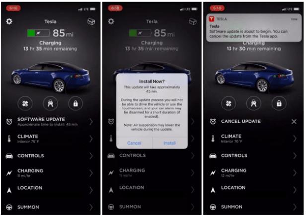 Tesla app features