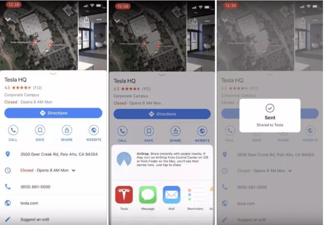 Tesla app new Features