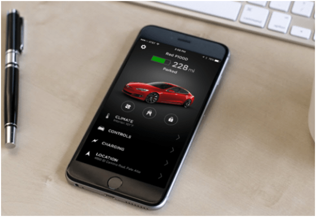 tesla new updated mobile