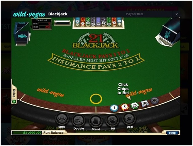 Wild Vegas Casino- Games to play- Blackjack