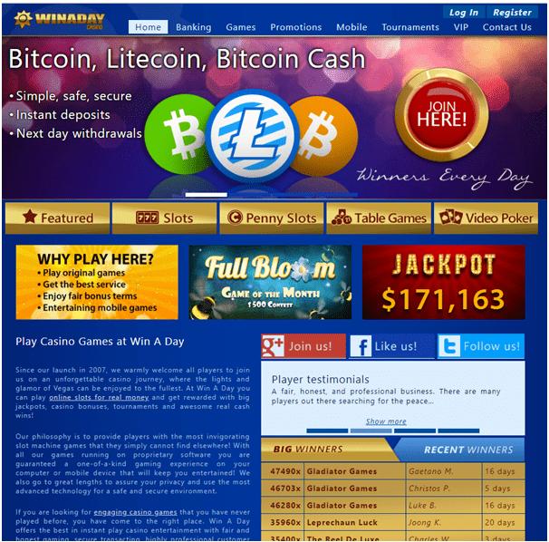 Win A Day Casino - No Deposit Online Casino