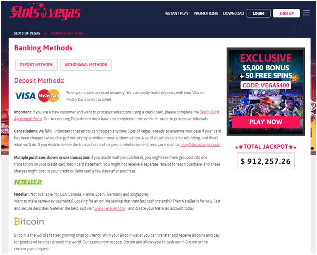 banking at online casinos