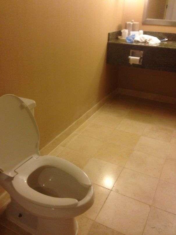 Zo kun je toch noiit bij het wc papier