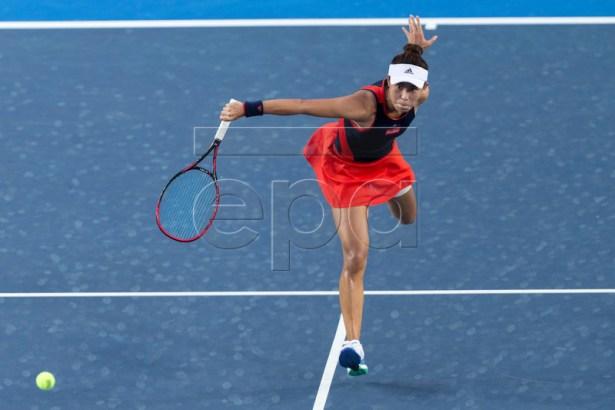 Wang Qiang of China in action against Garbine Muguruza of Spain during the Prudential Hong Kong Tennis Open semi-finals 2018 in Hong Kong, China, 13 October 2018. The Hong Kong Open runs until the 14 October 2018.  EPA-EFE/JEROME FAVRE