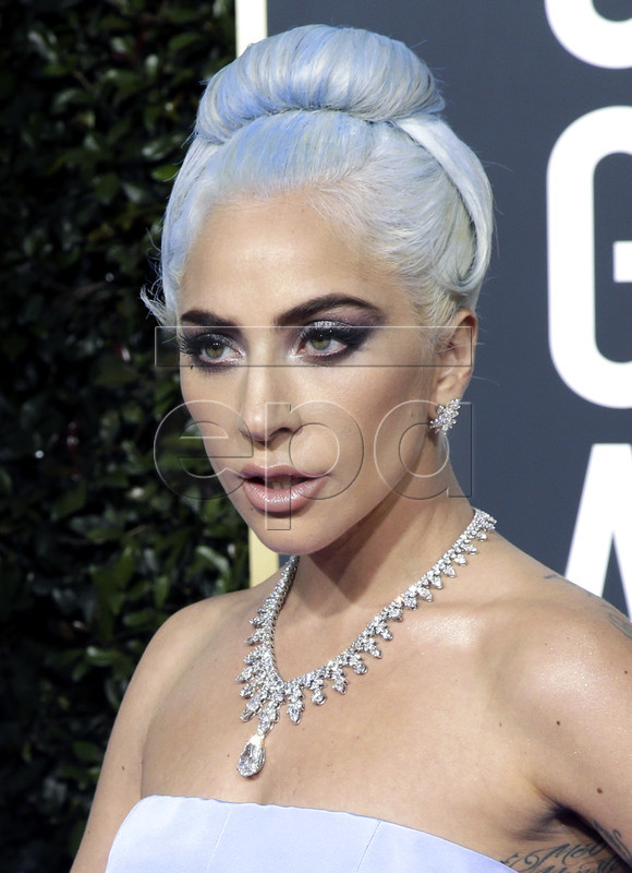 Lady Gaga arrives for the 76th annual Golden Globe Awards ceremony at the Beverly Hilton Hotel, in Beverly Hills, California, USA, 06 January 2019.
