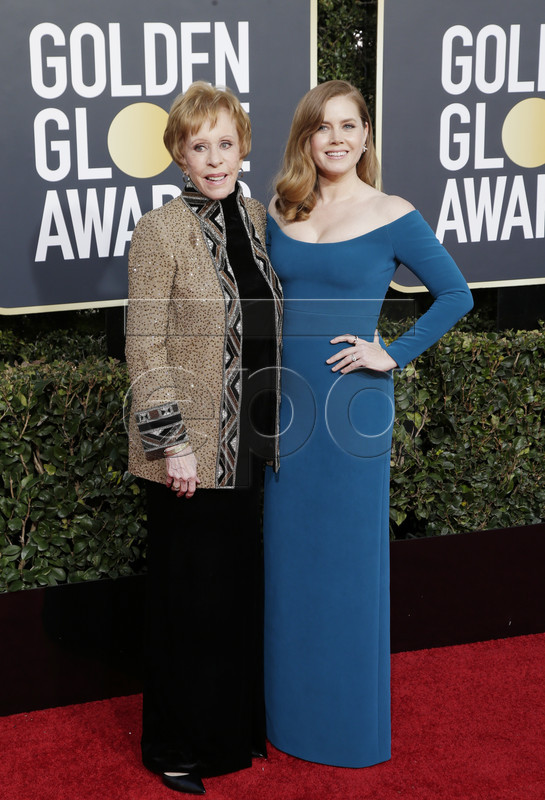 Carol Burnett (L) and Amy Adams arrives for the 76th annual Golden Globe Awards ceremony at the Beverly Hilton Hotel, in Beverly Hills, California, USA, 06 January 2019. EPA-EFE/MIKE NELSON