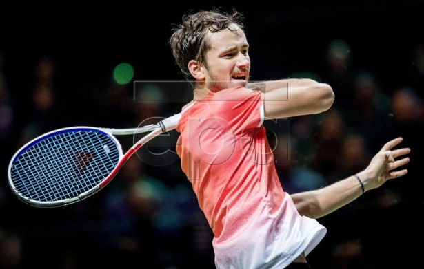 Daniil Medvedev (RUSSIA) during the semi-final against Gael Monfils (FRANCE) at the  ABN AMRO World Tennis Tournament in Rotterdam, The Netherlands, 16 February 2019.  EPA-EFE/KOEN VAN WEEL