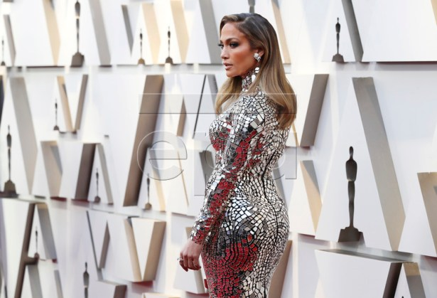 Jennifer Lopez arrives for the 91st annual Academy Awards ceremony at the Dolby Theatre in Hollywood, California, USA, 24 February 2019. The Oscars are presented for outstanding individual or collective efforts in 24 categories in filmmaking.  EPA-EFE/ETIENNE LAURENT