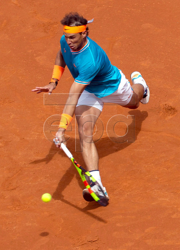 Rafa Nadal of Spain in action against David Ferrer of Spain during his third round men's single match of the 67th Barcelona Open Trofeo Conde de Godo tennis tournament, in Barcelona, Spain, 25 April 2019.  EPA-EFE/Enric Fontcuberta