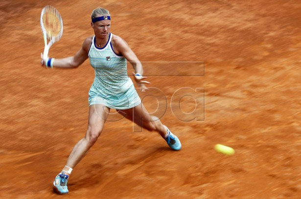 Kiki Bertens of the Netherlands in action against Johanna Konta of Britain during their women's singles semi final match at the Italian Open tennis tournament in Rome, Italy, 18 May 2019. EPA-EFE/RICCARDO ANTIMIANI