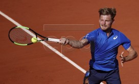 David Goffin of Belgium plays Rafael Nadal of Spain during their men?s third round match during the French Open tennis tournament at Roland Garros in Paris, France, 31 May 2019. EPA-EFE/YOAN VALAT