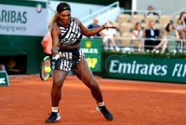 Serena Williams of the USA plays Sofia Kenin of the USA during their women?s third round match during the French Open tennis tournament at Roland Garros in Paris, France, 01 June 2019. EPA-EFE/SRDJAN SUKI