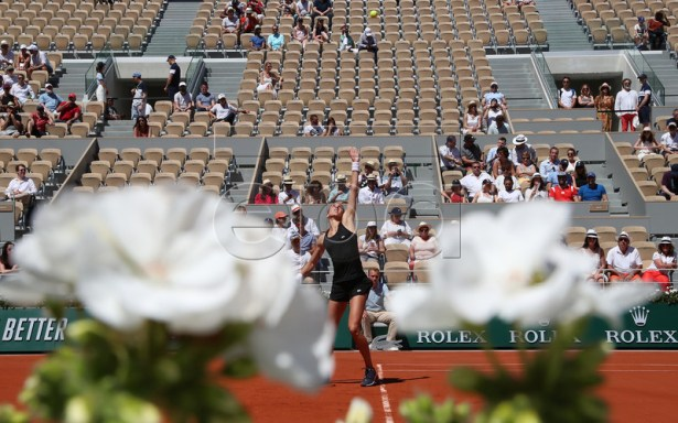 Petra Martic of Croatia plays Kaia Kanepi of Estonia during their women?s round of 16 match during the French Open tennis tournament at Roland Garros in Paris, France, 02 June 2019. EPA-EFE/SRDJAN SUKI