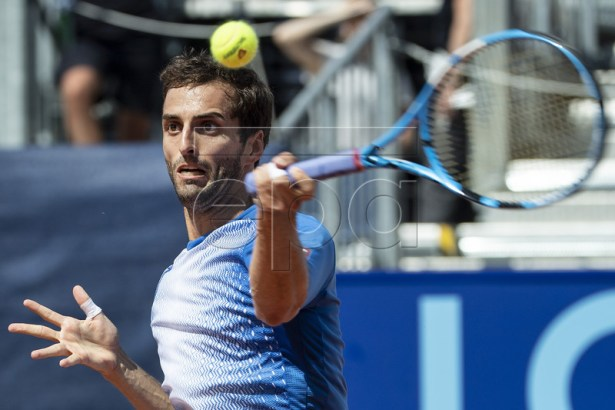 Albert Ramos-Vinolas of Spain in action against Pablo Andujar of Spain during a semi final game at the Swiss Open tennis tournament in Gstaad, Switzerland, on Saturday, July 27, 2019. EPA-EFE/PETER SCHNEIDER