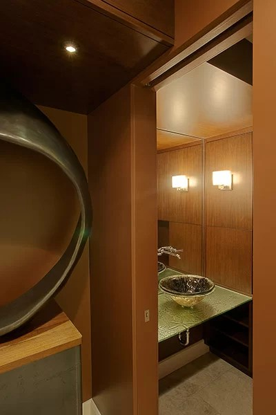 living room recessed lighting maroon and brown drakes residence: from an award-winning 1980s house to a ...