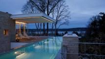 Modern House With Infinity Pool Lake Starnberg