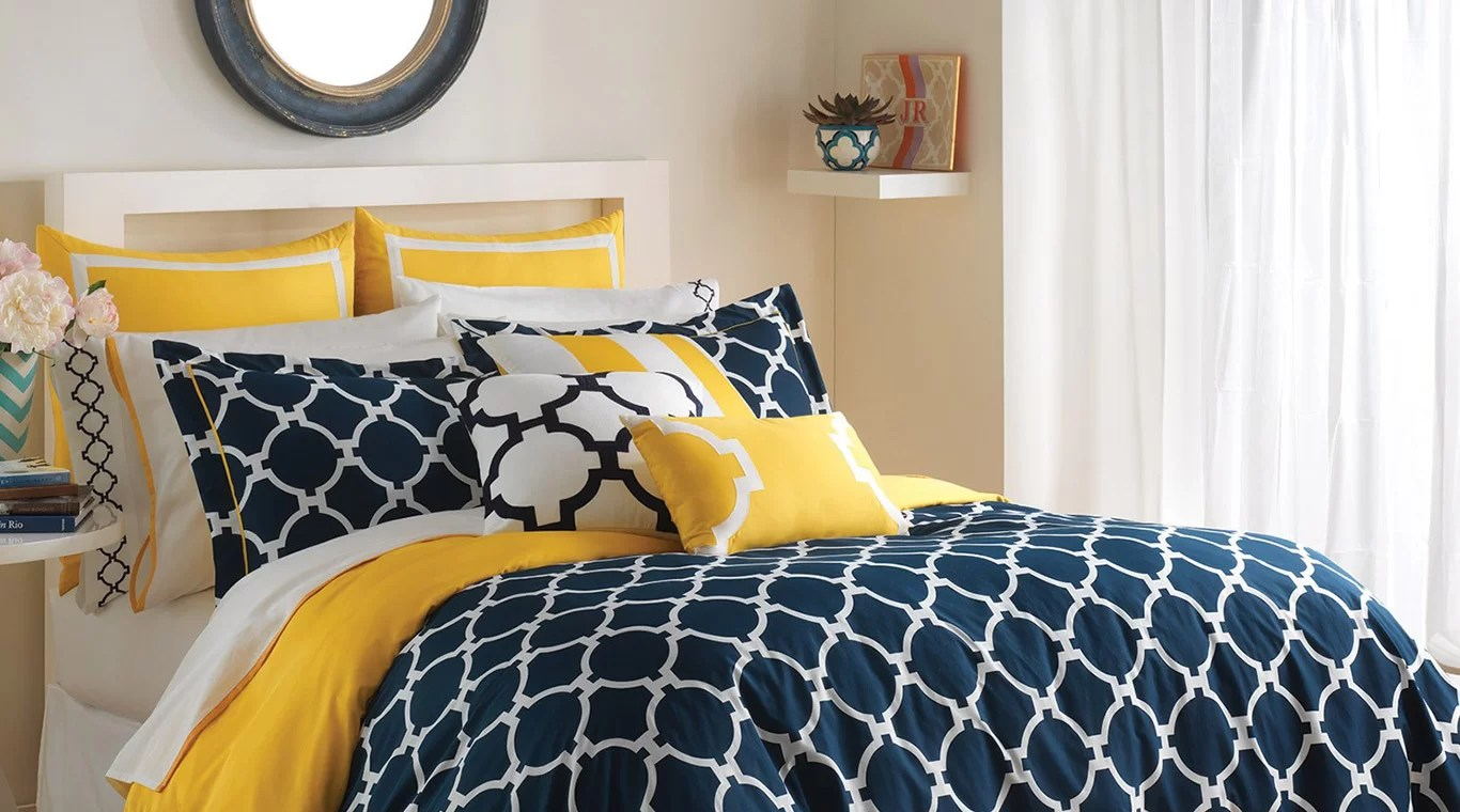 blue living room sets renovations pictures liven up your bedroom with colorful bedding   ...