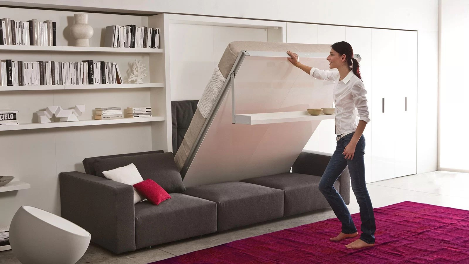 clei sofa bed living room leather these 10 modern murphy beds will help you maximize space ...