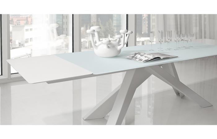 table big table extensible 200 100 cm plateau verre